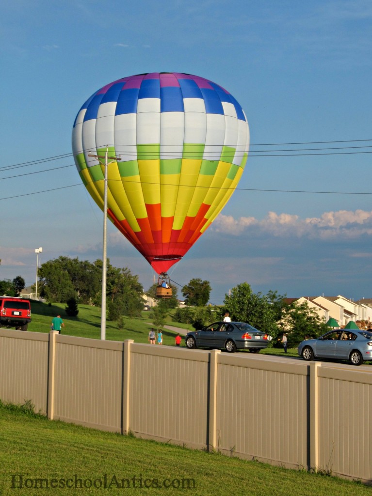 Hot Air Balloon almost landing in our backyard.