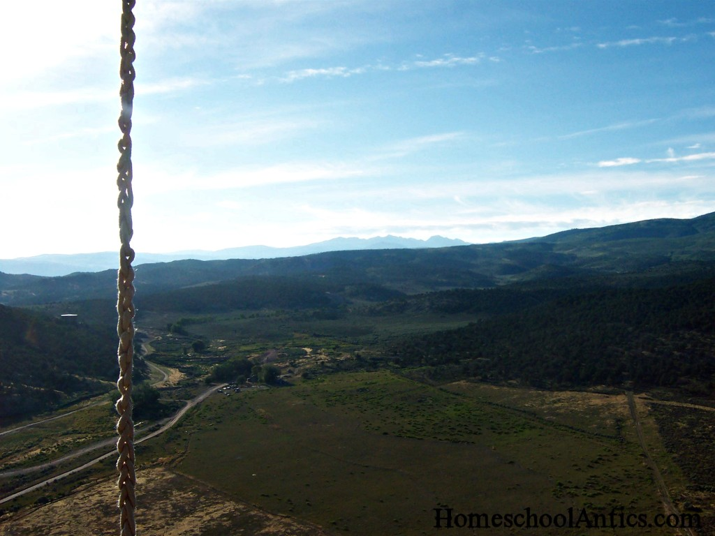Colorado view from hot air balloon