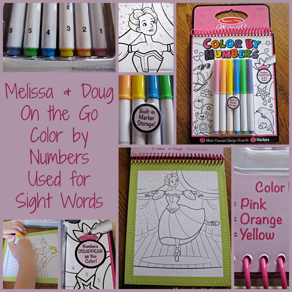 Melissa and Doug Color by Numbers used for sight words