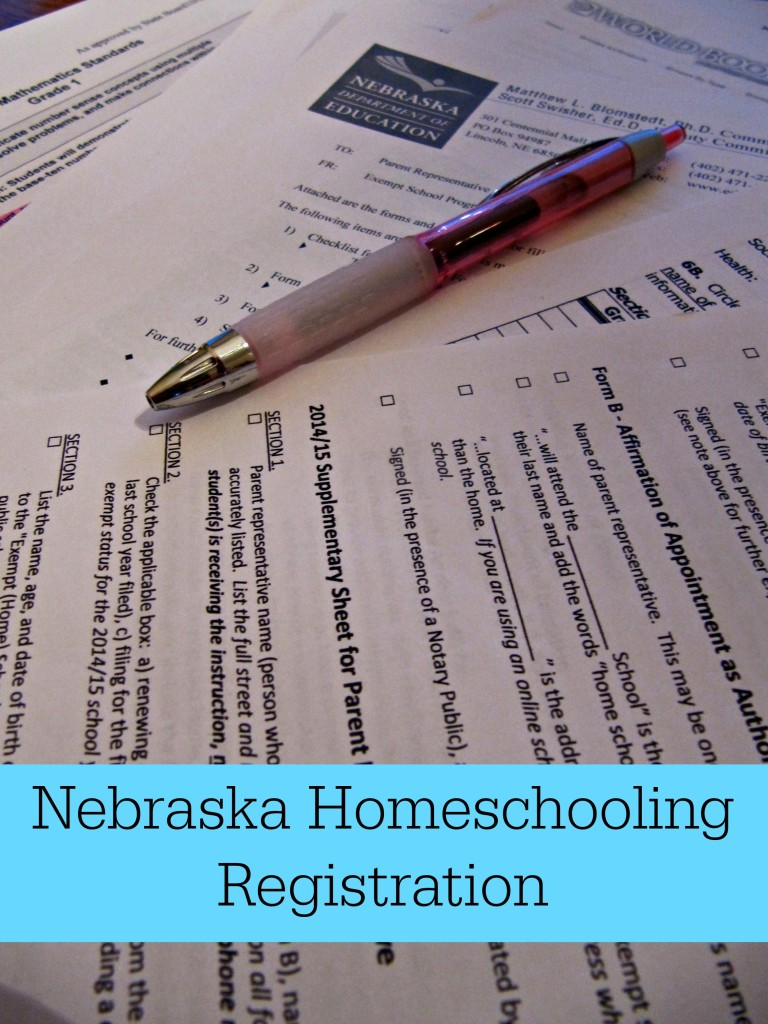 Nebraska Homeschool Registration 2014