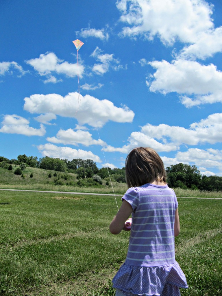 Lena flying kites