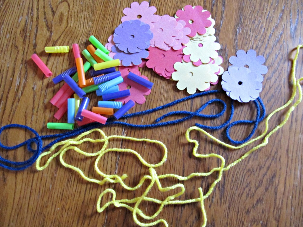 flower necklace supplies