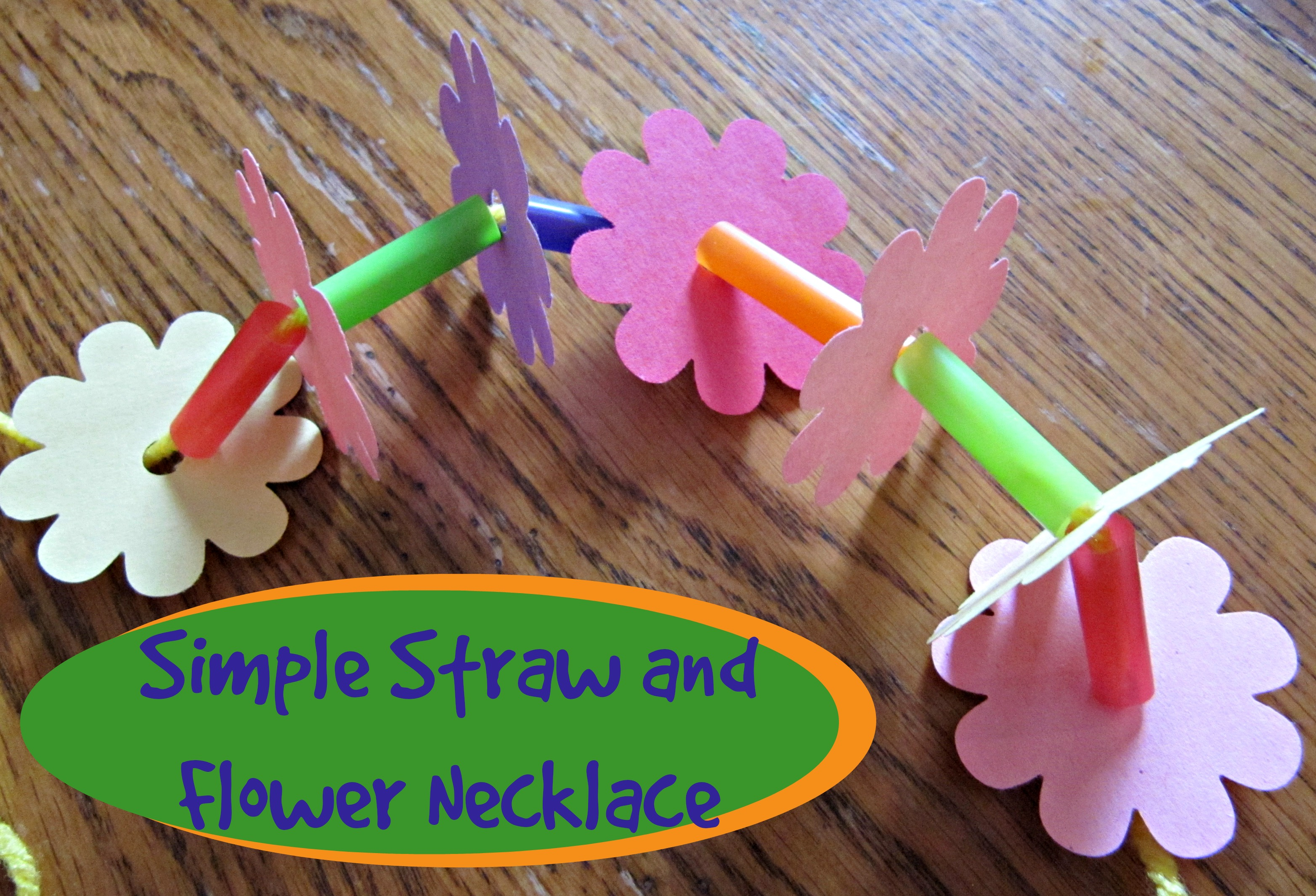 Simple straw and flower necklace instructions izmirmasajfo