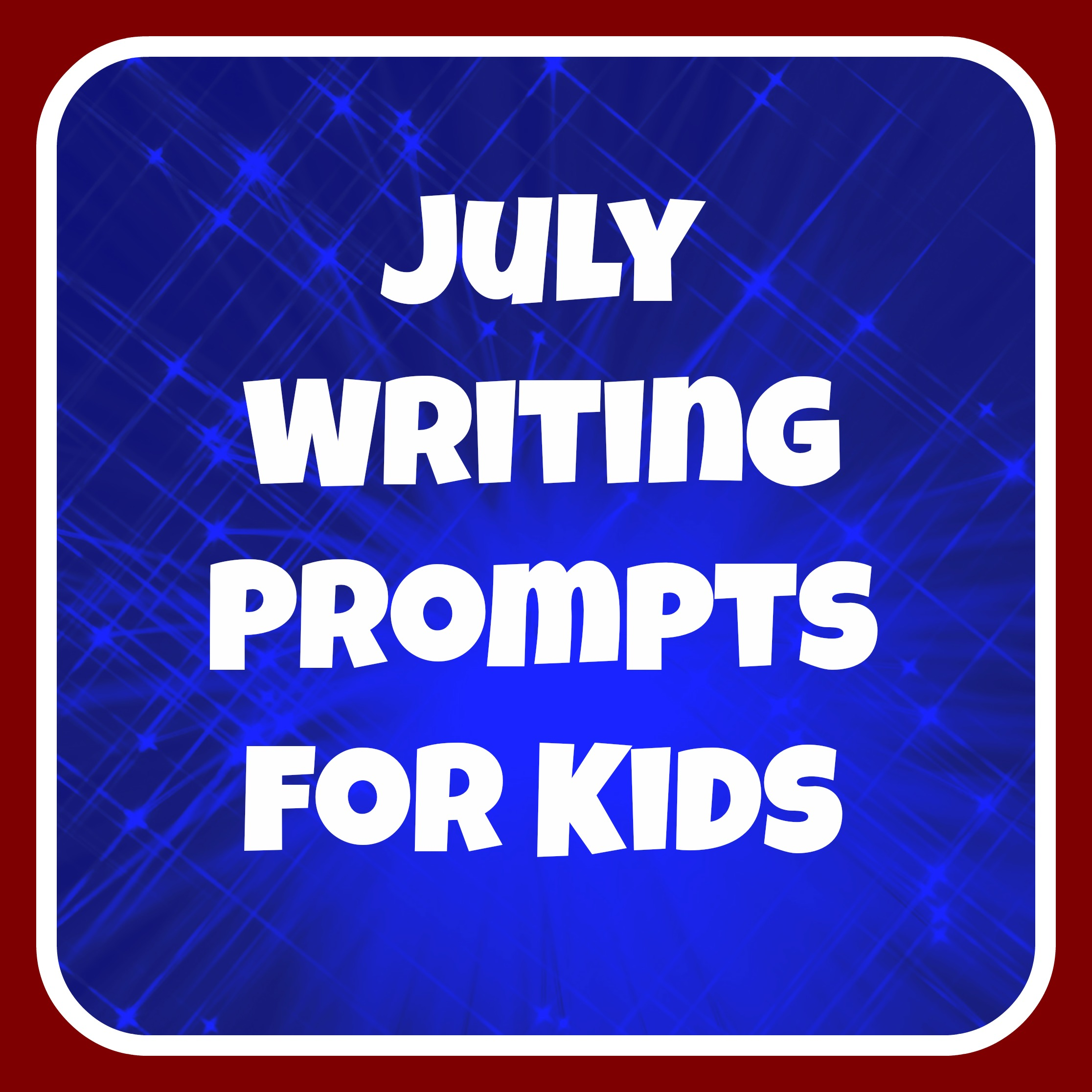 "fun writing prompts for kids 20 fun writing prompts for kids if you've ever had ""writer's block,"" you know how awful it feels when you just can't seem to get started on a piece of writing sometimes it helps to warm up your writing muscles, similar to the way that an athlete would stretch before a game or a musician would tune an instrument."
