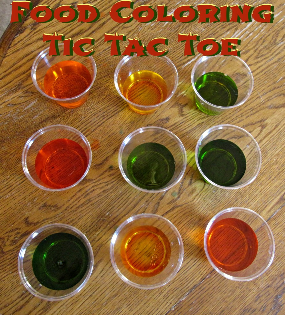 Food Coloring Tic Tac Toe
