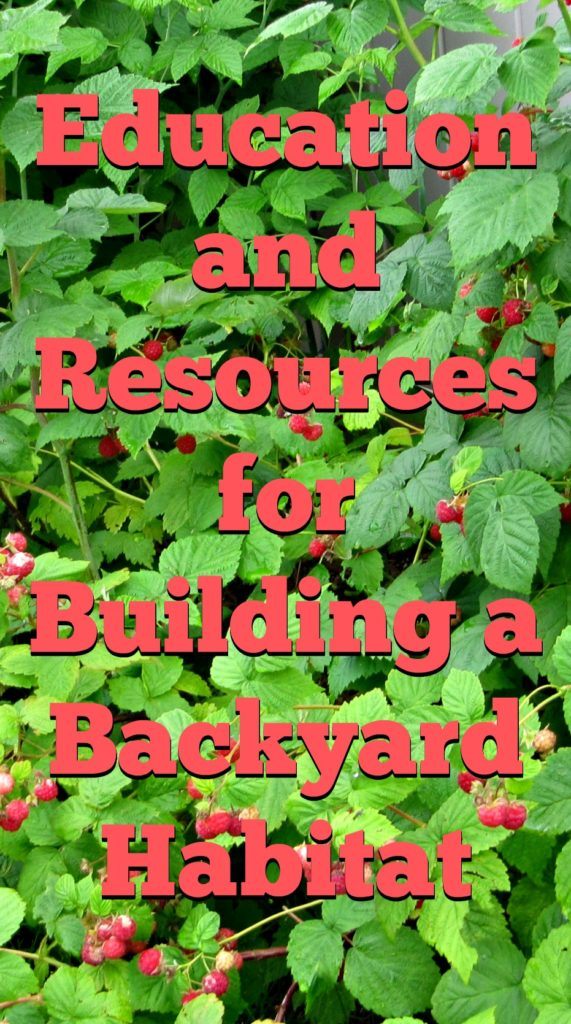 Educational Tips and Resources for Building a Backyard Habitat. Great information for hands on habitat education.