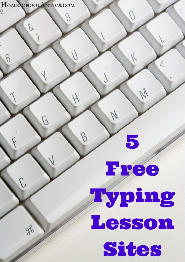 Mini reviews of 5 free typing lesson sites to help you choose the right typing lessons for your student.