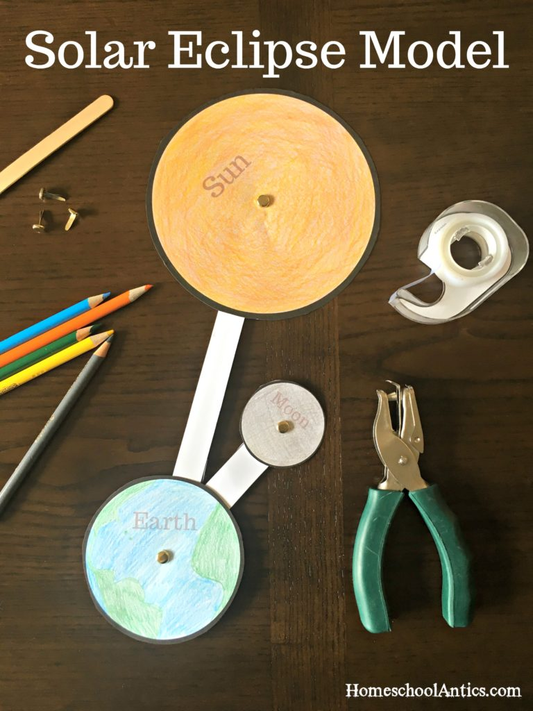Create a solar eclipse with this fun hands on project to aid in discussion of the solar eclipse, orbits and axial rotation. Perfect for homeschool! Free Printable!