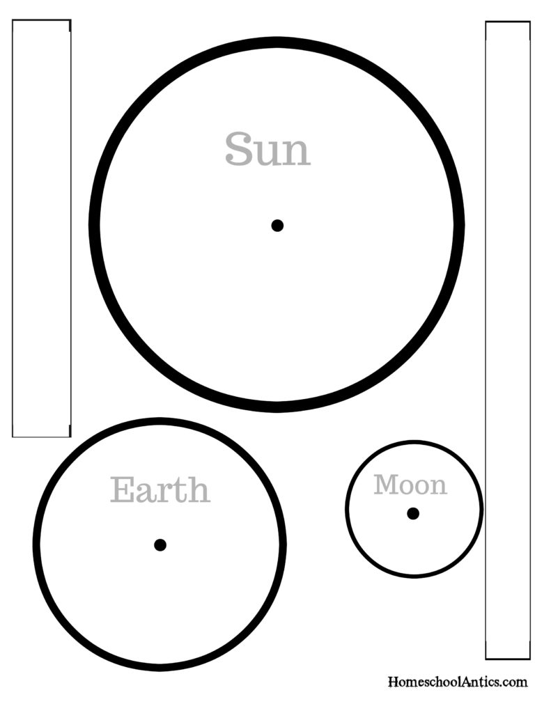 Solar eclipse model free printable homeschool antics for Eclipse comment template